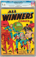 Golden Age (1938-1955):Superhero, All Winners Comics #1 Chicago pedigree (Timely, 1941) CGC NM+ 9.6 Off-white to white pages....