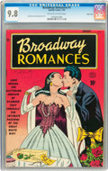 Golden Age (1938-1955):Romance, Broadway Romances #1 Carson City pedigree (Quality, 1950) CGC NM/MT 9.8 Off-white to white pages....