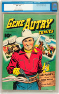 Golden Age (1938-1955):Western, Gene Autry Comics #9 Mile High pedigree (Fawcett, 1943) CGC NM+ 9.6Off-white to white pages....