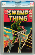 Bronze Age (1970-1979):Horror, Swamp Thing #3 Savannah pedigree (DC, 1973) CGC NM 9.4 Off-white towhite pages....
