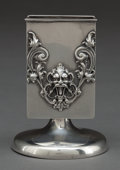 Silver Holloware, American:Other , A SILVER MATCH STAND . Wm. B. Kerr & Co, Newark, New Jersey,circa 1900. Marks: (fasces), STERLING, 410. 3-1/4 incheshi...