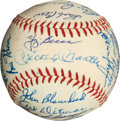 Autographs:Baseballs, 1961 New York Yankees Team Signed Baseball, PSA NM-MT+ 8.5....