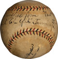 "Autographs:Baseballs, 1926 Hughie ""Eeh Yah"" Jennings Single Signed Baseball...."