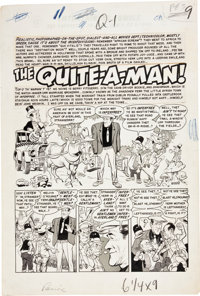 """Wally Wood Panic #3 Complete 7-page Story """"The Quite-a-Man"""" Original Art (EC, 1954)"""