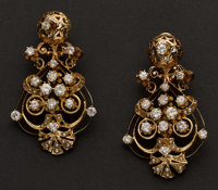 Estate Diamond Earrings