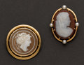 Estate Jewelry:Cameos, Two Early Cameos. ... (Total: 2 Items)