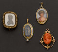 Estate Jewelry:Brooches - Pins, Three Antique Drops & A Victorian Pin. ... (Total: 4 Items)