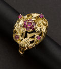 Estate Jewelry:Rings, Ruby & Gold Ring. ...