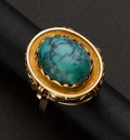 Estate Jewelry:Rings, Turquoise & Gold Ring. ...