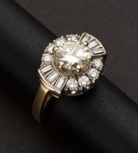 Estate Diamond Ring, 1.00 Ct. Center Diamond