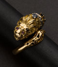 Estate Jewelry:Rings, Gold Lion Ring. ...