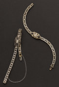 Estate Jewelry:Bracelets, Two White Gold Filigree Bracelets. ... (Total: 2 Items)