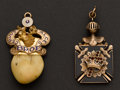 Estate Jewelry:Other , Two Gold Fobs. ... (Total: 2 Items)