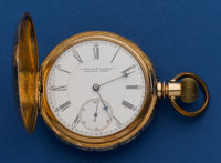 E. Howard & Co. Series IV 18k Gold N Size Hunter's Case Pocket Watch
