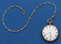 Timepieces:Pocket (post 1900), Howard 14k Gold 19 Jewel 12 Size With Gold Filled Chain. ...