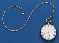Howard 14k Gold 19 Jewel 12 Size With Gold Filled Chain