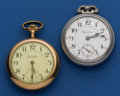 Timepieces:Pocket (post 1900), Two - Hamilton's 21 Jewel 940 And A 19 Jewel 944 Pocket Watches. ... (Total: 2 Items)