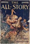 Books:Pulps, All-Story October 1912 - The First Appearance of Tarzan (Munsey, 1912) Apparent GD/VG....