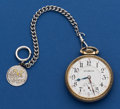 Timepieces:Pocket (post 1900), Illinois 16 Size 21 Jewel Abe Lincoln Pocket Watch. ...