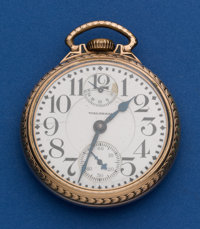 Waltham 23 Jewel Vanguard With Wind Indicator Pocket Watch