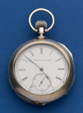 Timepieces:Pocket (post 1900), Elgin 11 Jewel Coin Silver 16 Size Convertible Pocket Watch. ...