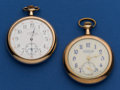 Timepieces:Pocket (post 1900), Two - Private Labels 12 Sizes 15 Jewel Illinois 19 Jewel Waltham Pocket Watches Runners. ... (Total: 2 Items)