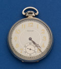 Timepieces:Pocket (post 1900), Waltham 14k White Gold 12 Size Pocket Watch. ...