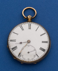 Swiss 14k Gold 43 mm Key Wind Pocket Watch