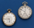 Timepieces:Pocket (post 1900), Two 17 Jewel 12 Size Pocket Watches Runners. ... (Total: 2 Items)