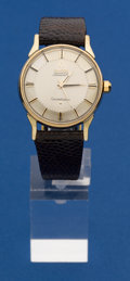 Timepieces:Wristwatch, Omega Vintage Gold & Steel Constellation. ...