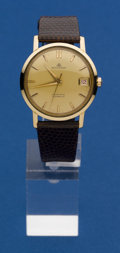 Timepieces:Wristwatch, Bucherer Exceptional 14k Gold Waterproof Automatic. ...