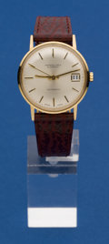 Timepieces:Wristwatch, Swiss Fine 14k Gold Automatic For Marshall Field & Co.. ...
