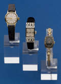 Timepieces:Wristwatch, Three 14k Watches, Movado, Blancpain, & LeCoultre. ... (Total:3 Items)