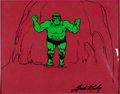 Animation Art:Production Cel, The Incredible Hulk Production Cel Animation Art Signed by Jack Kirby (Marvel, undated)....