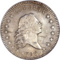Early Half Dollars, 1795 50C 2 Leaves AU58 NGC. O-104, R.4....