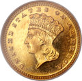Proof Gold Dollars, 1888 G$1 PR66 Cameo NGC....