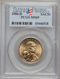 Sacagawea Dollars, 2006-D $1 Satin Finish SMS MS69 PCGS. PCGS Population (151/0).Numismedia Wsl. Price for problem free N...