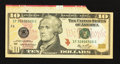 Error Notes:Attached Tabs, Fr. 2040-F $10 2006 Federal Reserve Note. Choice AboutUncirculated.. ...