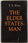 Books:First Editions, T. S. Eliot. The Elder Statesman. New York: Farrar, Strausand Cudahy, [1959]. First edition, first printing. Oc...