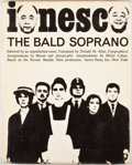 Books:First Editions, Eugene Ionesco. The Bald Soprano. New York: Grove Press,[1965]. First American edition, first printing. Octavo. Pub...