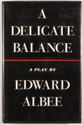 Books:First Editions, Edward Albee. A Delicate Balance. New York: Atheneum, 1966.First edition. Octavo. Publisher's binding and dust jack...