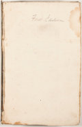 Books:First Editions, [Sir Walter Scott]. Paul's Letters to His Kinfolk.Edinburgh: Archibald Constable, et al., 1816. First edition.Octa...