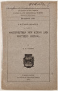 Books:First Editions, N. H. Darton. A Reconnaissance of Parts of Northwestern NewMexico and Northern Arizona. Washington: Government Prin...