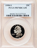 Proof Washington Quarters: , 1998-S 25C Clad PR70 Deep Cameo PCGS. PCGS Population (157). NGCCensus: (209). Numismedia Wsl. Price for problem free NGC...
