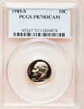Proof Roosevelt Dimes: , 1985-S 10C PR70 Deep Cameo PCGS. PCGS Population (109). NGC Census:(60). Numismedia Wsl. Price for problem free NGC/PCGS ...