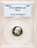 Proof Roosevelt Dimes: , 1993-S 10C Silver PR70 Deep Cameo PCGS. PCGS Population (111). NGCCensus: (0). Numismedia Wsl. Price for problem free NGC...