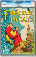 Golden Age (1938-1955):Funny Animal, Fairy Tale Parade #1 Vancouver pedigree (Dell, 1942) CGC FN/VF 7.0Off-white to white pages....