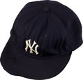 Baseball Collectibles:Uniforms, 1960's Mickey Mantle Game Worn New York Yankees Cap....