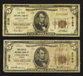 National Bank Notes:Virginia, Abingdon, VA - $5 1929 Ty. 1 The First NB Ch. # 5150;. Lynchburg,VA - $5 1929 Ty. 1 The Peoples NB Ch. # 2760. ... (Total: 2 notes)