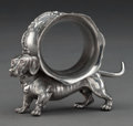 Silver Holloware, American:Napkin Rings, AN AMERICAN SILVER-PLATED FIGURAL NAPKIN RING . Maker unknown,American, circa 1875. Unmarked. 3 inches high (7.6 cm). 4.5 o...